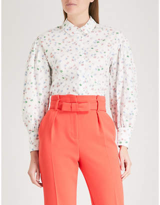 Claudie Pierlot Floral-print cotton shirt