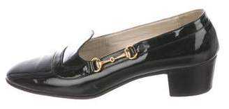 Gucci Patent Leather Square-Toe Pumps