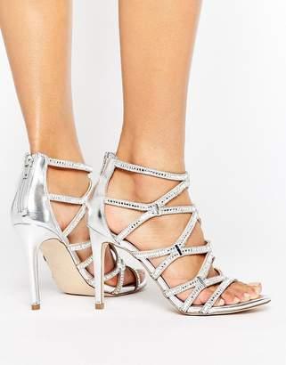 Aldo Liah Metallic Cage Heeled Sandals