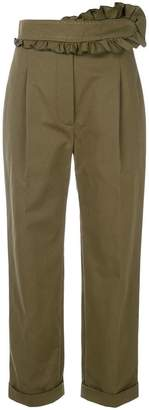 Carven ruffle trim trousers