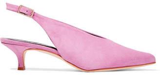 Tibi Lia Suede Slingback Pumps - Pink