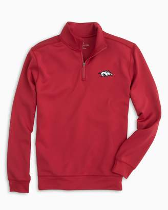 Southern Tide Gameday Performance 1/4 Zip Pullover - University of Arkansas