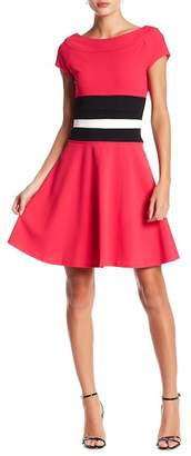Taylor Colorblock Fit & Flare Dress