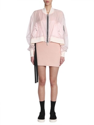 Unravel bomber jacket in technical fabric