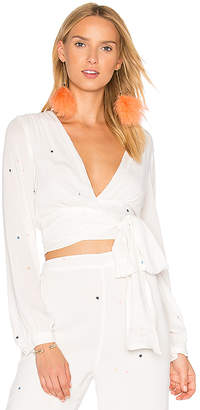 Wildfox Couture Starlet Blouse in White $178 thestylecure.com