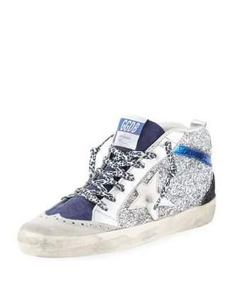 Golden Goose Star Glitter Mid-Top Sneakers