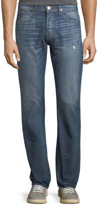 Hudson Byron Distressed Jeans, Blue