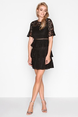 Girls On Film Outlet Black Lace Dress