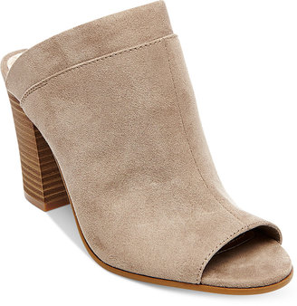 Madden Girl Norma Block Heel Mules $59 thestylecure.com