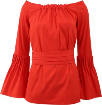 OSCAR DE LA RENTA Bell Sleeve Blouse $890 thestylecure.com
