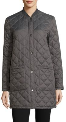 Barbour Summer Quilted Bomber Jacket $279 thestylecure.com