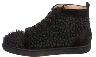 fefe0bd9e161 Christian Louboutin Louis Flat Crosta Spike Sneakers
