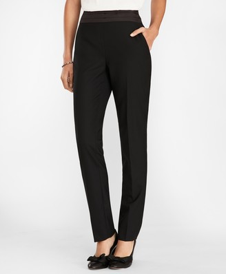 Brooks Brothers Wool-Blend Tuxedo Pants