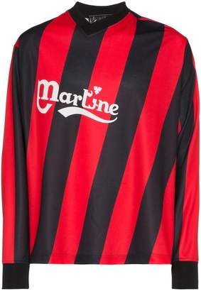 2f5ddc8c5 Martine Rose asymmetric stripe twisted logo football top