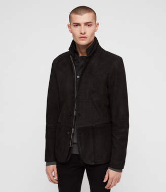 AllSaints Dayton Leather Blazer