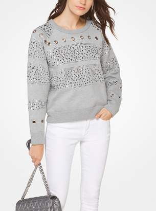 MICHAEL Michael Kors Studded Cotton-Blend Sweatshirt