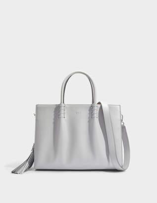 Tod's Lady Moc Large Shopping Bag in Grey Calfskin