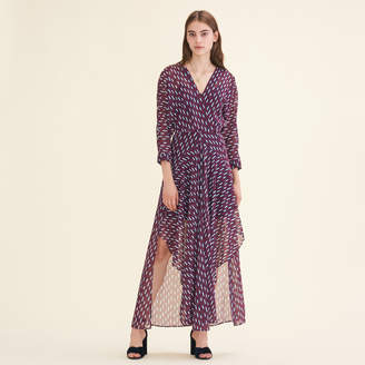 Maje Long dress with graphic print