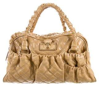 Marc Jacobs Ruched-Trimmed Quilted Satchel
