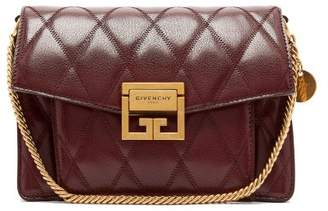 Givenchy Gv3 Small Quilted Leather Cross Body Bag - Womens - Burgundy