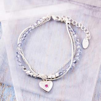 Swarovski J&S Jewellery Three Chain Bracelet Made With Crystals
