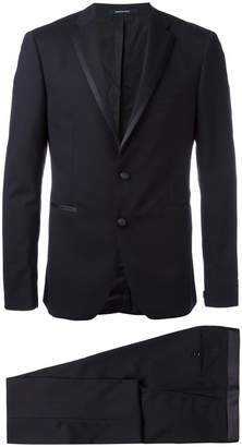 Tagliatore contrast trim dinner suit