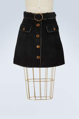 Gucci Leather mini skirt