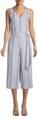 BeachLunchLounge Striped Linen & Cotton Blend Jumpsuit