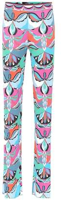 Emilio Pucci Printed silk-blend pants