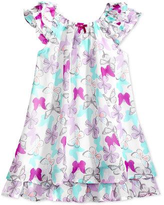 Blueberi Boulevard Butterfly-Print Ruffled Dress, Toddler & Little Girls (2T-6X) $42 thestylecure.com