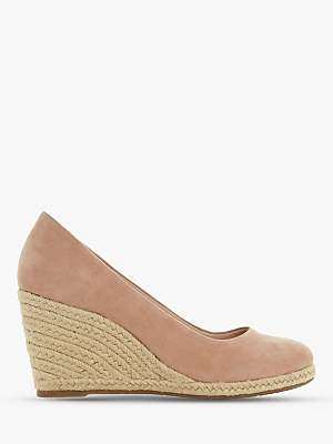 Dune Annabela High Wedge Heel Court Shoes, Cappuccino Suede