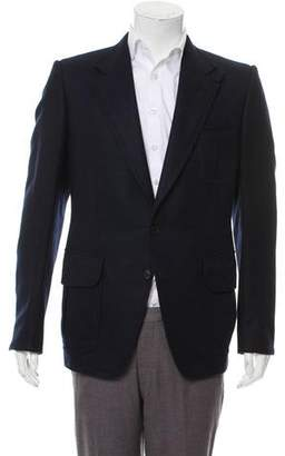 Tom Ford Leather-Accented Cashmere Blazer