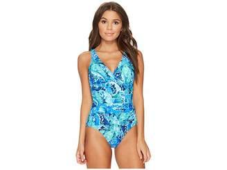 Lauren Ralph Lauren Exotic Paisley Twist Underwire One-Piece Women's Swimsuits One Piece