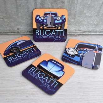 Bugatti Me and My Car Boxed Set Of Four Coasters