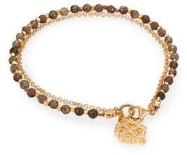 Astley Clarke Biography Smoky Quartz& White Sapphire Four-Leaf Clover Beaded Friendship Bracelet