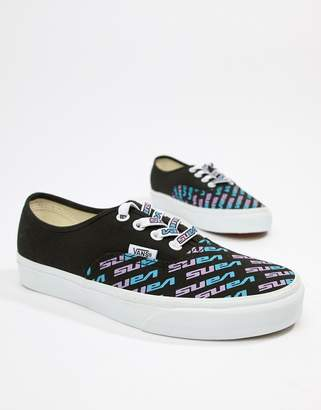 a23222e335da6b Vans Exclusive Authentic logo black trainers