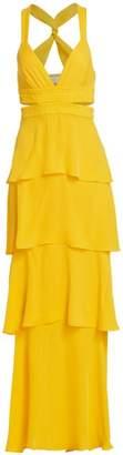 A.L.C. Lita Silk Tiered Ruffle Maxi Dress