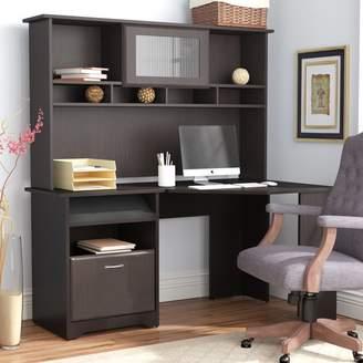 Hillsdale Red Barrel Studio Corner Computer Desk with Hutch