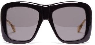 18b0e63170 Gucci Oversized Square Frame Acetate Sunglasses - Womens - Black
