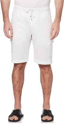 Cubavera Big & Tall Drawstring Linen Cargo Short