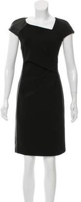 J. Mendel Leather-Accented Sheath Dress