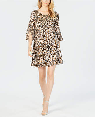 MSK Embellished Leopard-Print Dress