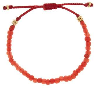 LINK-UP Red Bead Pull Cord Bracelet