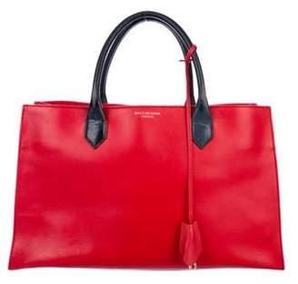 Balenciaga Grain Leather Work Satchel
