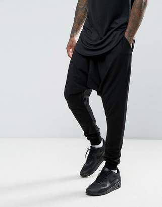 Asos Extreme Drop Crotch Joggers In Lightweight Jersey