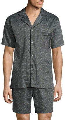 STAFFORD Stafford Sateen Short Sleeve/ Short Leg Pajama Set - Men's