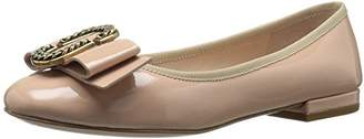 Marc Jacobs Women's Interlock Round Toe Ballerina Ballet Flat