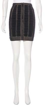 Herve Leger Metallic Bodycon Skirt