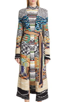 Missoni Patchwork Long Cashmere Blend Cardigan