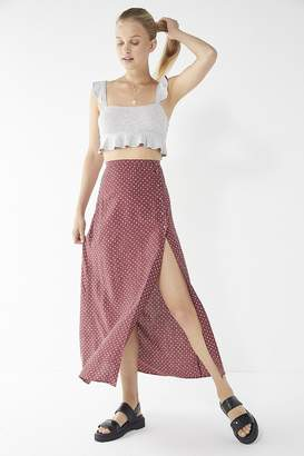 Urban Outfitters Tile Print Button-Down Maxi Skirt